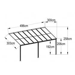 Aluminum Patio Canopy 496(L) X 300(W)