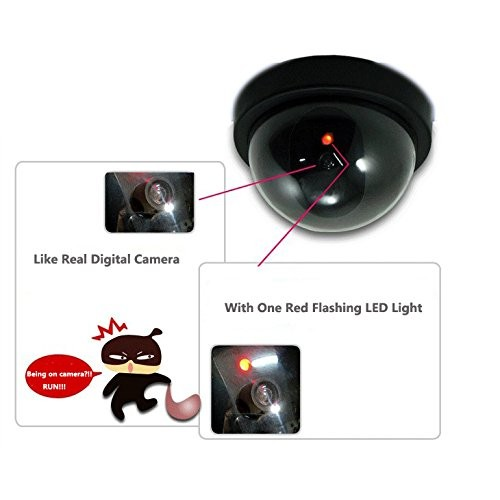 Security cctv camera with flashing red led light dummy security cctv camera with flashing red led light aloadofball Image collections
