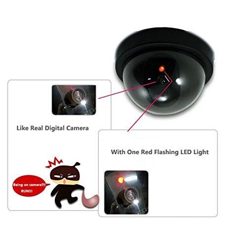 Dummy security cctv camera with flashing red led light aloadofball Images