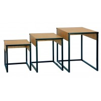 3pc Wooden Side Nesting Table Set