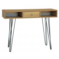 Single Drawer Wooden Desk Table with Hairpin Legs
