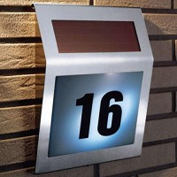 Stainless Solar Powered 2LED House Number Lamp