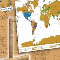Travel World Scratch Map