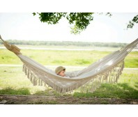 Tassel Cotton Double Hammock Bed